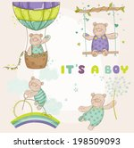 Cute Bear Set. Baby Shower Or...