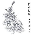 vector floral bouquet ... | Shutterstock .eps vector #1985095679