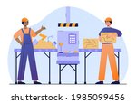 two male characters in workwear ...   Shutterstock .eps vector #1985099456