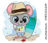 cute cartoon mouse boy with a... | Shutterstock .eps vector #1985101649