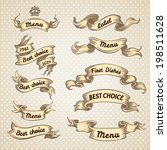 vintage ribbon banners  hand... | Shutterstock .eps vector #198511628