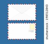 white clean air mail envelopes...   Shutterstock .eps vector #198512843