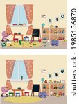 clean and dirty children's room ...   Shutterstock .eps vector #1985156870