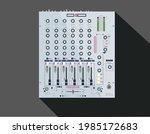 realistic legendary dj mixer....   Shutterstock .eps vector #1985172683