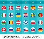 set of icons with the flags of...   Shutterstock .eps vector #1985190443