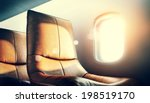 luxury airplane interior | Shutterstock . vector #198519170