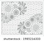 coloring book for adult and... | Shutterstock .eps vector #1985216333
