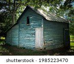 Old Abandoned Feed Shed In The...