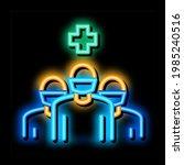 surgeon and nurses neon light...   Shutterstock .eps vector #1985240516