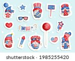 watercolor happy 4th of july... | Shutterstock .eps vector #1985255420