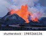Erupting Vulcano In Iceland...