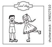 funny cartoon illustration of a ... | Shutterstock .eps vector #198527510