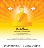 buddhism big buddha sit with...   Shutterstock .eps vector #1985279846