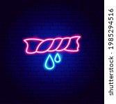 wet towel neon sign. vector...   Shutterstock .eps vector #1985294516