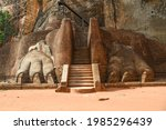 The Sigiriya rock fortress -  world heritage site -  Sri Lanka