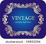 vintage frame. | Shutterstock .eps vector #19853296