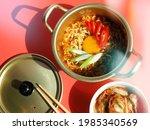 cooked ramyeon or korean...