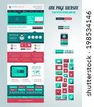 one page website flat ui design ...