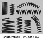 black spring coils  flexible... | Shutterstock .eps vector #1985356169