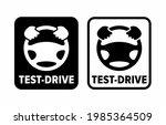 """test drive"" vector information ... | Shutterstock .eps vector #1985364509"
