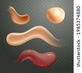 set of realistic cosmetic cream ... | Shutterstock .eps vector #1985374880