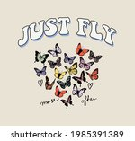 70s retro groovy hippie slogan...   Shutterstock .eps vector #1985391389