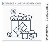 money line icon. cash for... | Shutterstock .eps vector #1985393819