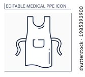 apron line icon. personal...   Shutterstock .eps vector #1985393900