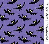 flying bats seamless pattern.... | Shutterstock .eps vector #1985400479