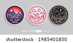 line art travel patches and... | Shutterstock .eps vector #1985401850