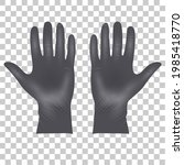medical latex protective gloves ... | Shutterstock .eps vector #1985418770