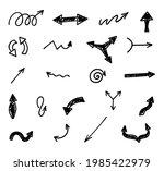 vector set of hand drawn arrows ...   Shutterstock .eps vector #1985422979