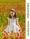 Adorable Little Girl In Dress...