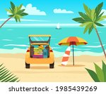 car  suitcase  bags and other...   Shutterstock .eps vector #1985439269