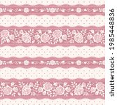 seamless floral pattern with... | Shutterstock .eps vector #1985448836