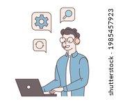 all center  call processing... | Shutterstock . vector #1985457923
