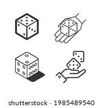 dice vector line icon set | Shutterstock .eps vector #1985489540
