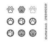 dog  cat paw line icon... | Shutterstock .eps vector #1985490539