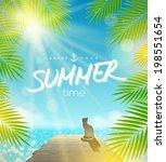 summer holidays vector design   ... | Shutterstock .eps vector #198551654