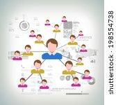 business network concept...   Shutterstock .eps vector #198554738