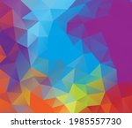 vector background from polygons ...   Shutterstock .eps vector #1985557730