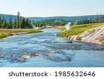 Yellowstone River In Summer...