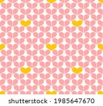 pink and yellow hearts repeat... | Shutterstock .eps vector #1985647670