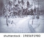 grungy image of scooter track... | Shutterstock . vector #1985691980