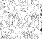 floral pattern with white... | Shutterstock .eps vector #198569768