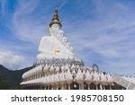 White Buddha Statue At . Wat...