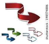 navigation arrows  icons ...   Shutterstock . vector #198574886