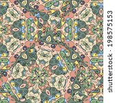 abstract seamless pattern of... | Shutterstock .eps vector #198575153