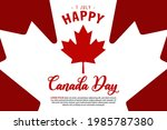 celebrate canada day with... | Shutterstock .eps vector #1985787380