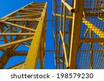 low view of the yellow cranes | Shutterstock . vector #198579230